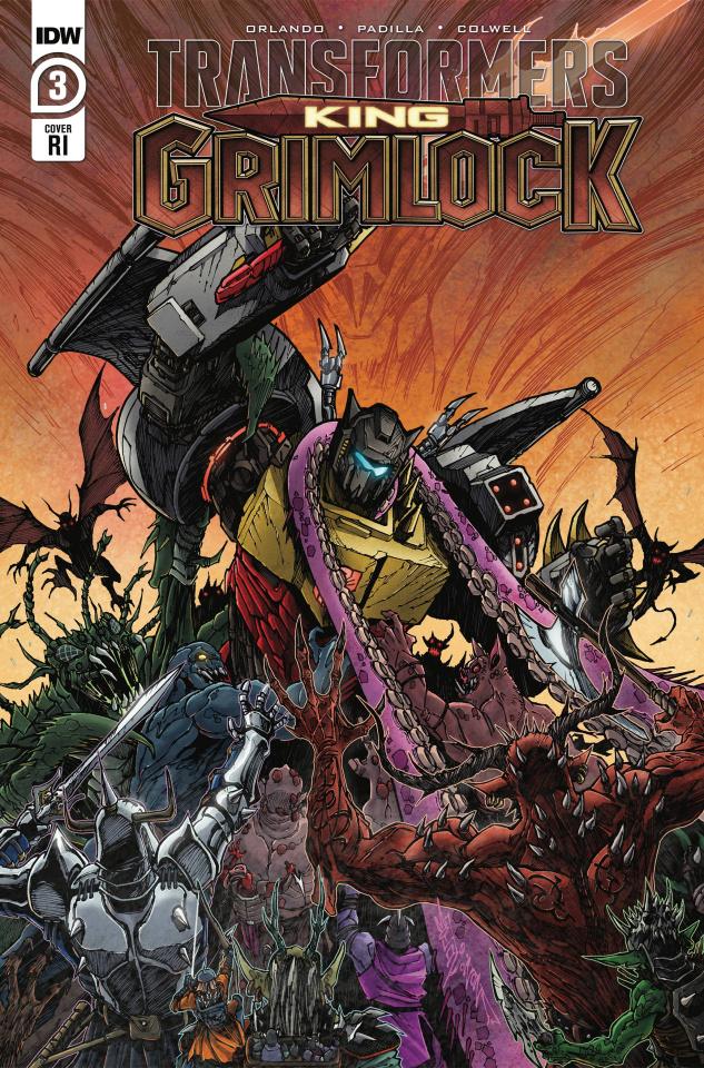 Transformers: King Grimlock #3 (10 Copy Milne Cover)