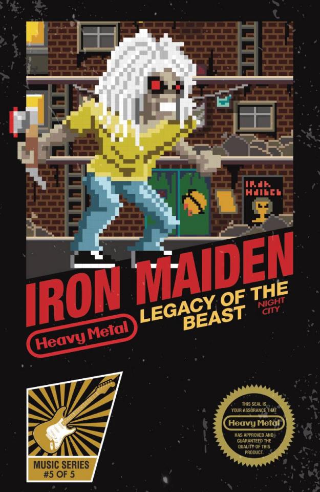 Iron Maiden: Legacy of the Beast - Night City #5 (Kremenek Cover)