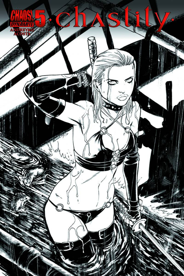 Chastity #5 (25 Copy Seeley B&W Cover)