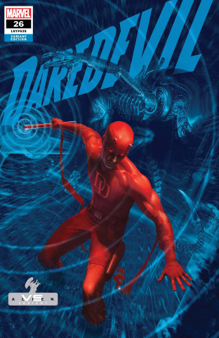 Daredevil #26 (Rahzzah Marvel vs. Alien Cover)