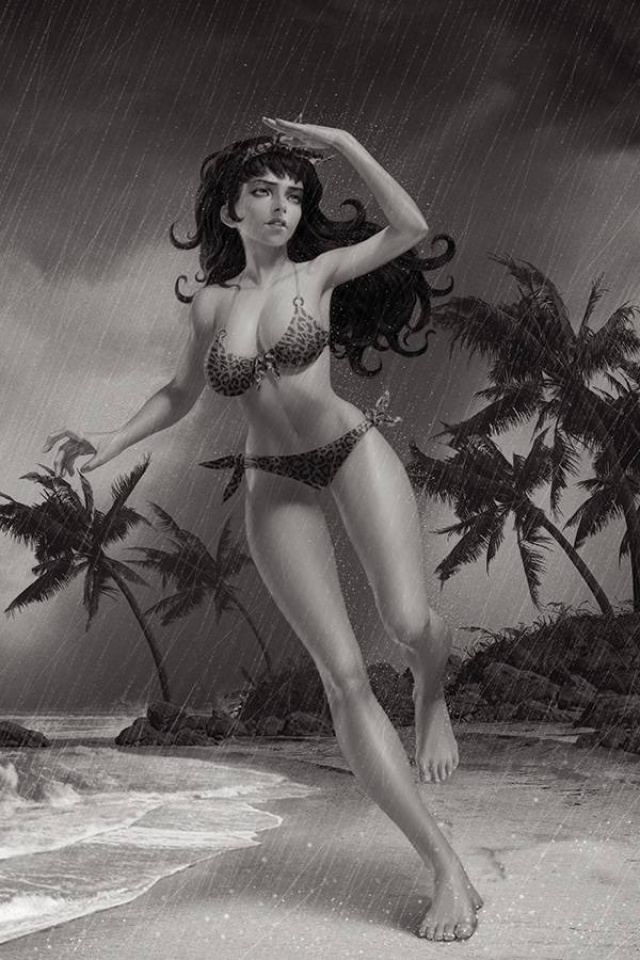 Bettie Page #2 (15 Copy Yoon B&W Virgin Cover)