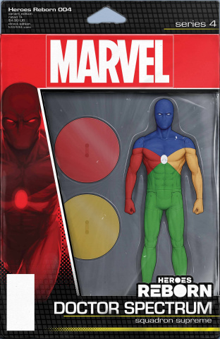 Heroes Reborn #4 (Christopher Action Figure Cover)