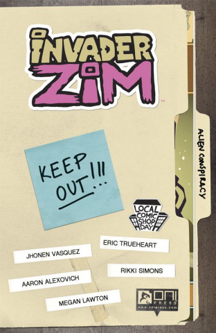 Invader Zim #0 (Local Comic Shop Day 2016)