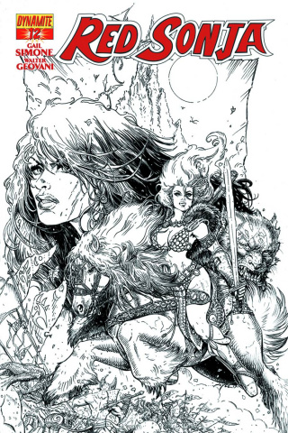 Red Sonja #12 (25 Copy Chin B&W Cover)