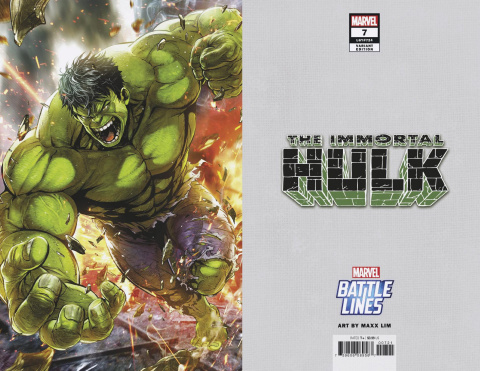 The Immortal Hulk #7 (Maxx Lim Marvel Battle Lines Cover)