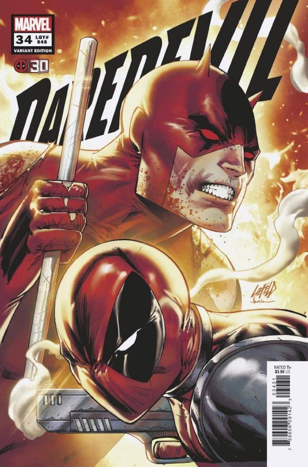 Daredevil #34 (Liefeld Deadpool 30th Anniversary Cover)