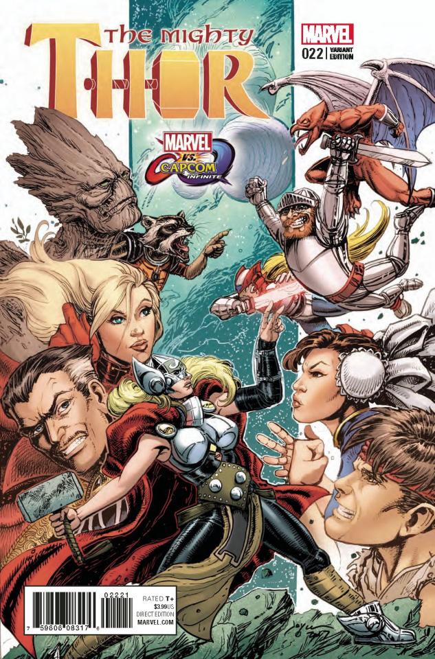 The Mighty Thor #22 (Marvel vs. Capcom Cover)