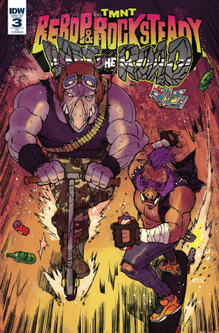 Teenage Mutant Ninja Turtles: Bebop and Rocksteady Hit the Road #3 (10 Copy Cover)