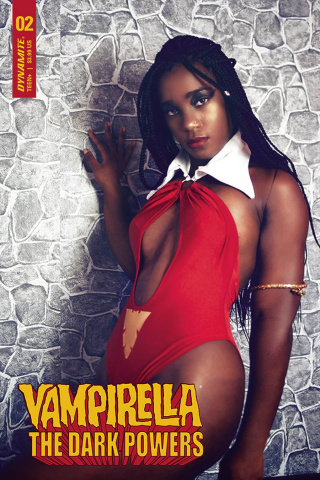 Vampirella: The Dark Powers #2 (Vanta Black Cosplay Cover)