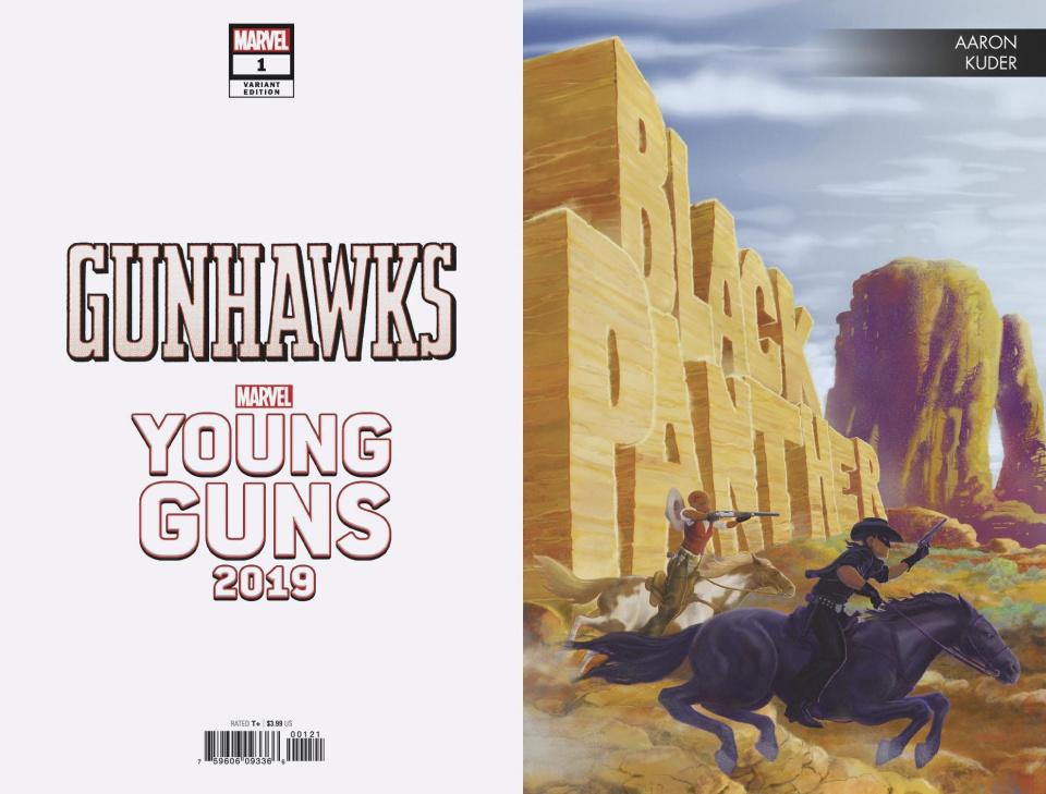 Gunhawks #1 (Kuder Young Guns Cover)