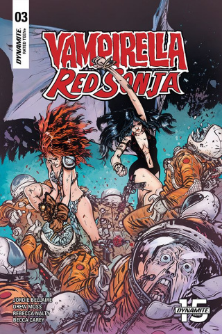 Vampirella / Red Sonja #3 (Johnson & Spicer Cover)