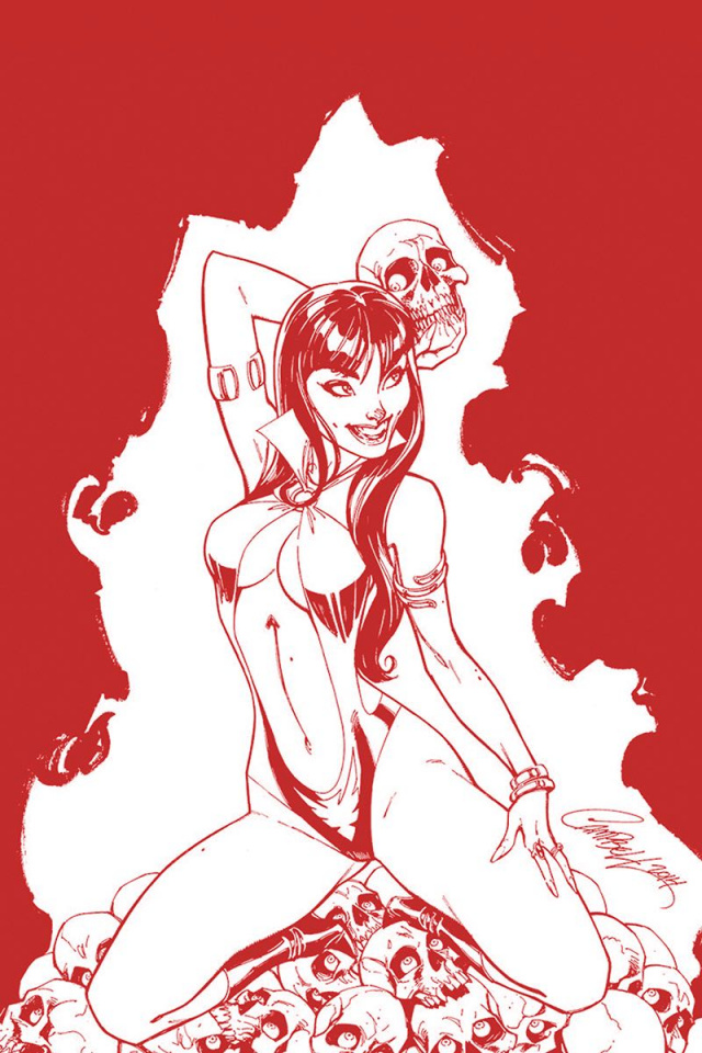 Vampirella #3 (Campbell Crimson Blood Line Art Cover)