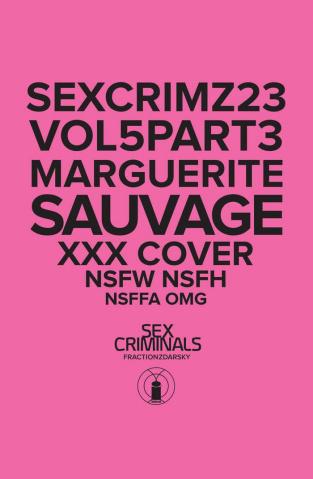 Sex Criminals #23 (XXX Marguerite Sauvage Cover)