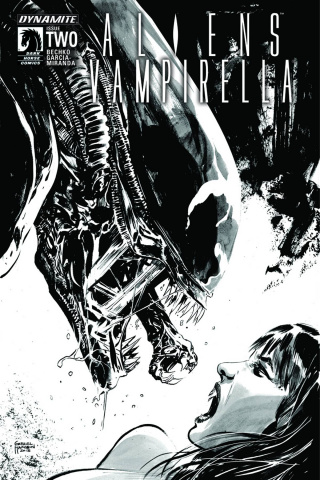 Aliens / Vampirella #2 (5 Copy Hardman B&W Cover)