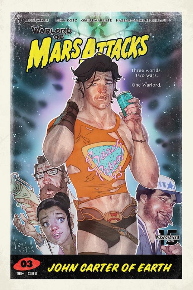 Warlord of Mars Attacks #3 (Caldwell Cover)