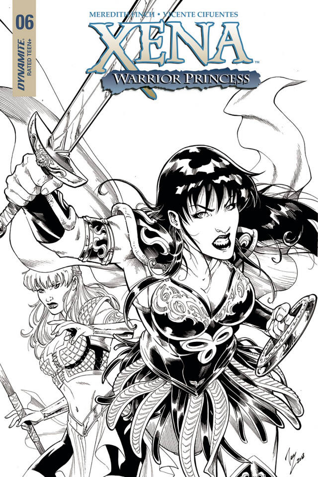 Xena #6 (20 Copy Cifuentes B&W Cover)
