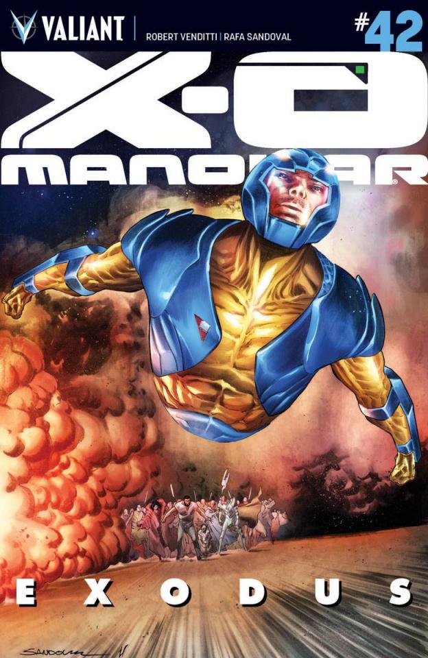 X-O Manowar #42 (Sandoval Cover)