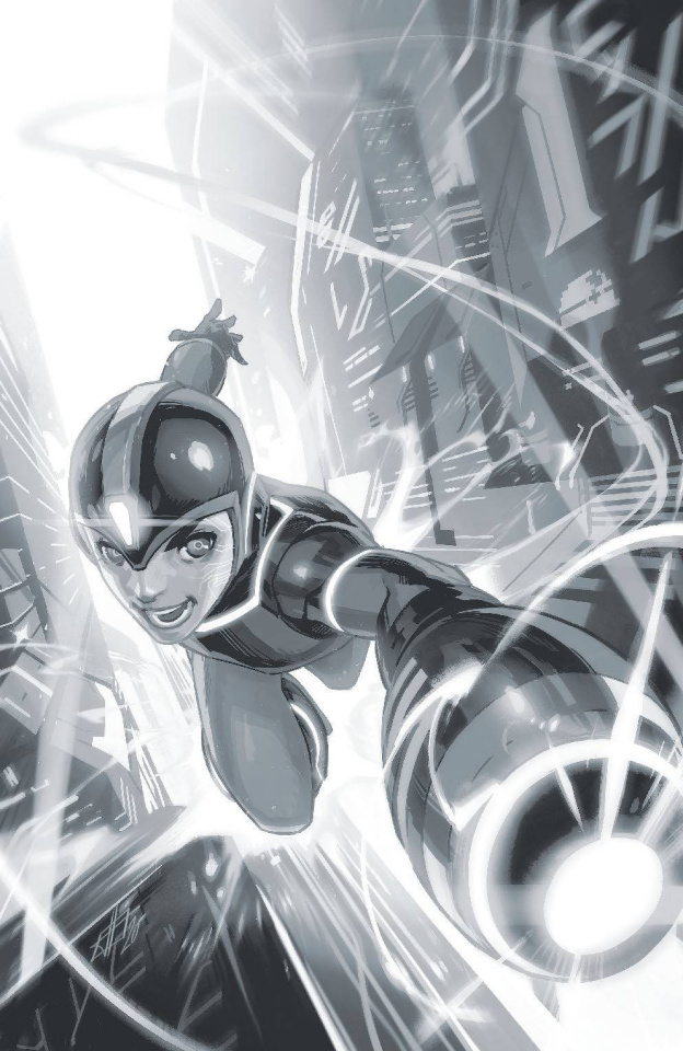 Mega Man: Fully Charged #1 (50 Copy Silver Foil Cover)