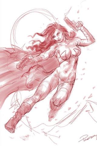 Dejah Thoris #6 (21 Copy Parrillo Tint Virgin Red Cover)