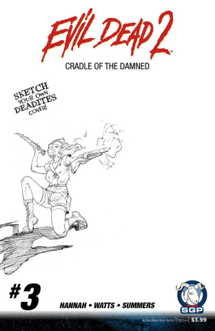 Evil Dead 2: Cradle of the Damned #3 (10 Copy Blank Sketch COver)