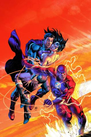 Superman / Wonder Woman #15 (Flash Cover)