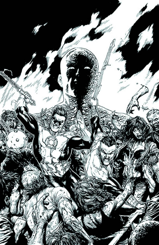 Green Lantern #18 (Black & White Cover)