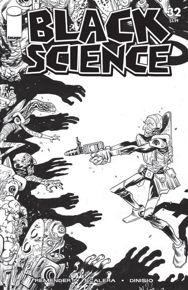 Black Science #32 (B&W Walking Dead #5 Tribute Cover)