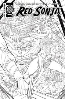 Red Sonja #5 (10 Copy Sauvage B&W Cover)