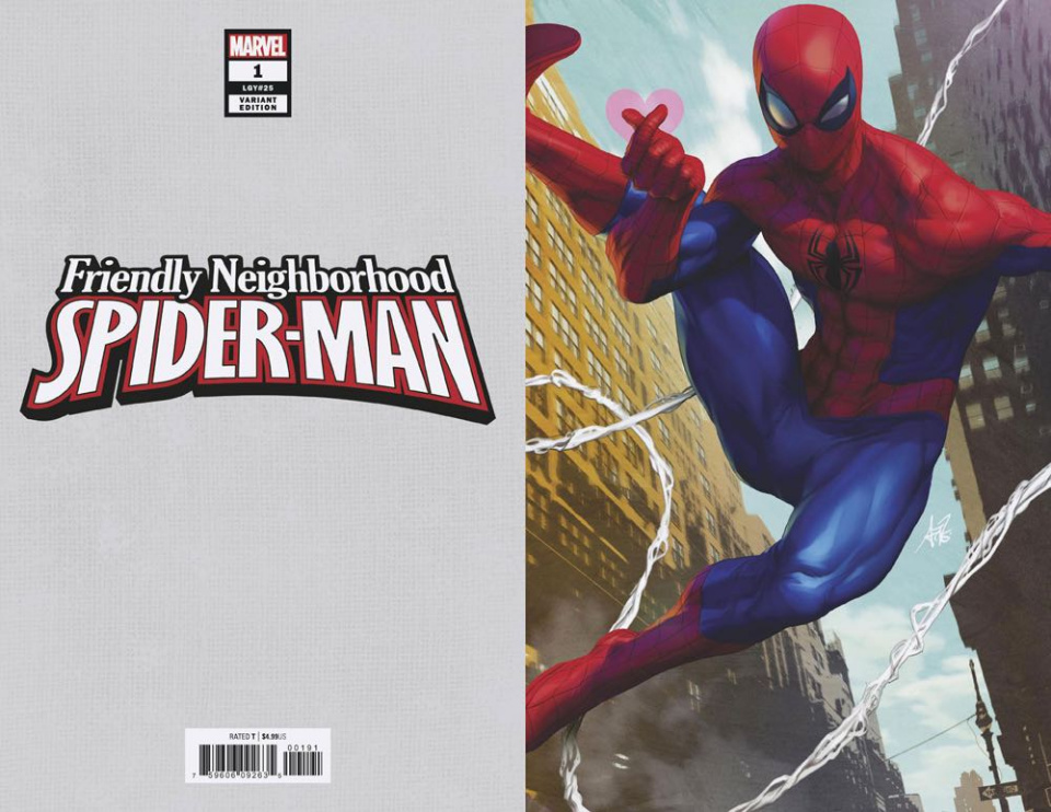 Friendly Neighborhood Spider-Man #1 (Artgerm Virgin Cover)