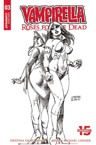 Vampirella: Roses for the Dead #3 (20 Copy Linsner B&W Cover)