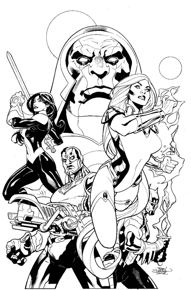 Justice League: Odyssey #1 (Black and White Cover)