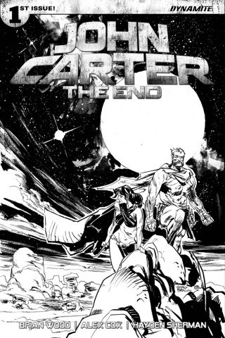 John Carter: The End #1 (40 Copy Brown B&W Cover)