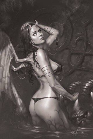 Red Sonja: Age of Chaos #4 (15 Copy Parrillo B&W Virgin Cover)