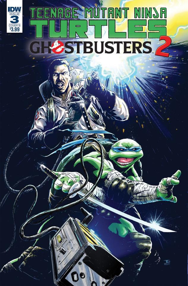 Teenage Mutant Ninja Turtles / Ghostbusters 2 #3 (Galusha Cover)