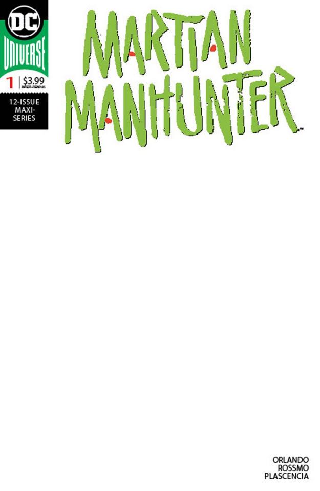 Martian Manhunter #1 (Blank Cover)