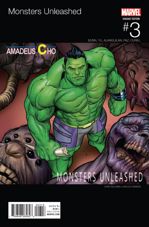 Monsters Unleashed! #3 (Williams Hip Hop Cover)