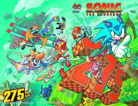 Sonic the Hedgehog #275 (Yardley Wraparound Cover)