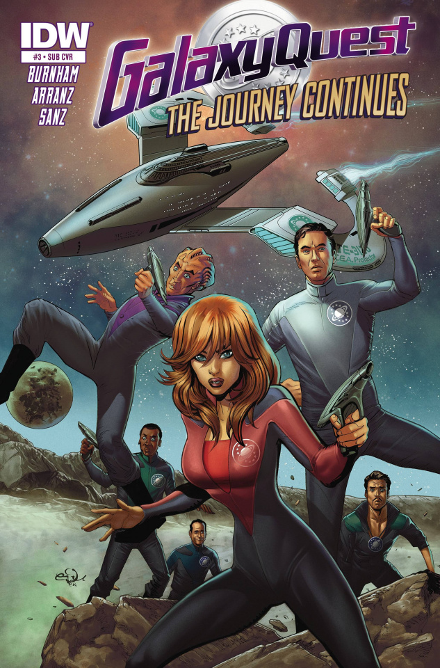 Galaxy Quest: The Journey Continues #3 (Subscription Cover)