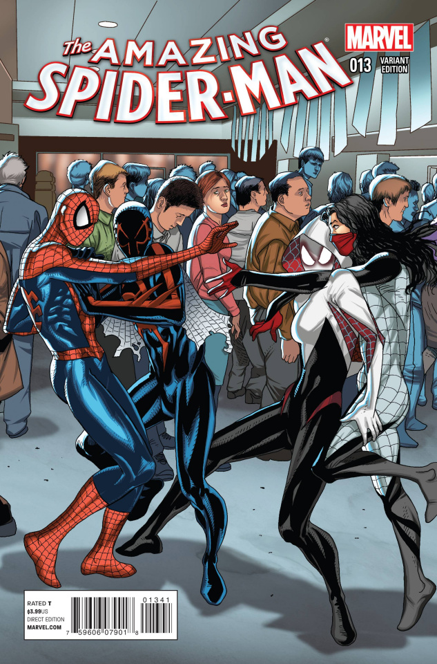 The Amazing Spider-Man #13 (Larroca Welcome Home Cover)