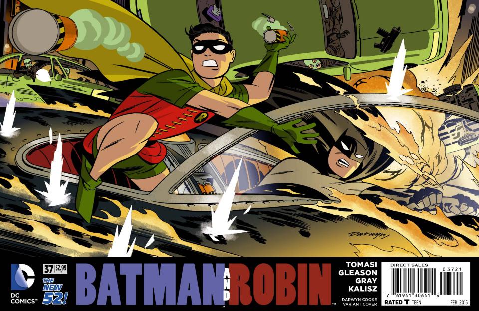 Batman and Robin #37 (Darwyn Cooke Cover)