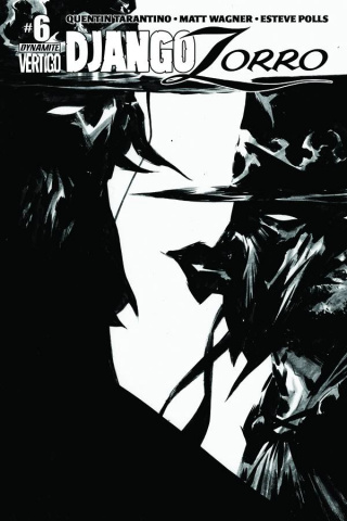 Django / Zorro #6 (25 Copy Lee B&W Cover)