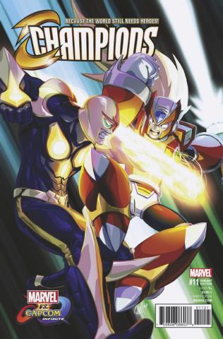 Champions #11 (Chamba Marvel vs. Capcom Cover)