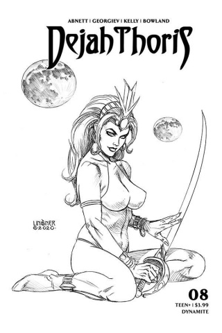 Dejah Thoris #8 (20 Copy Linsner B&W Cover)