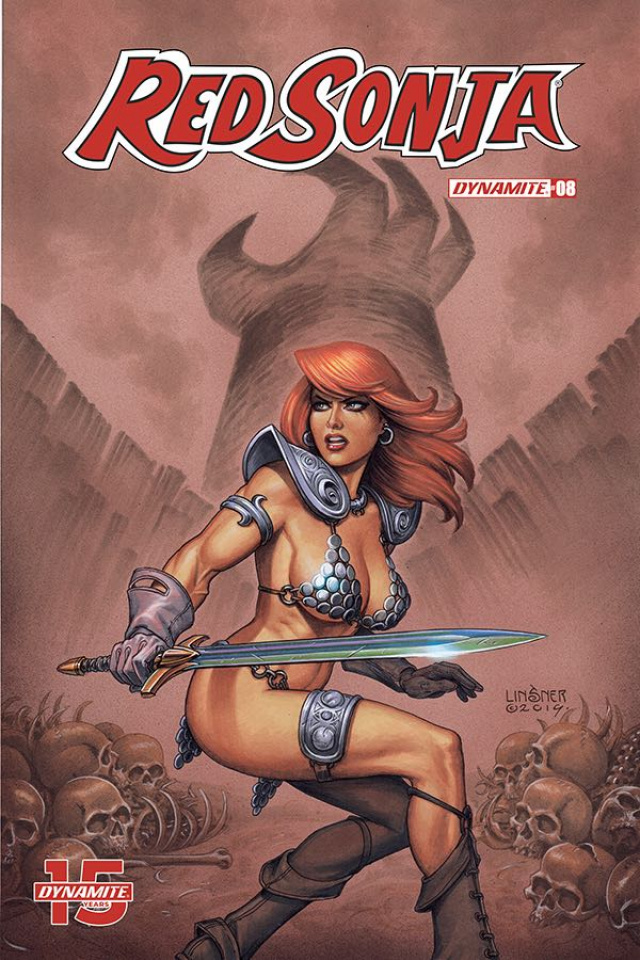 Red Sonja #8 (Linsner Cover)