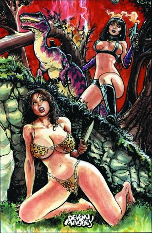 Cavewoman / Raptorella #2 (Massey Cover)
