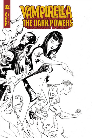 Vampirella: The Dark Powers #2 (40 Copy Lee B&W Cover)