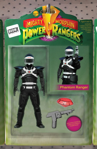 Mighty Morphin' Power Rangers #24 (Action Figure Cover)