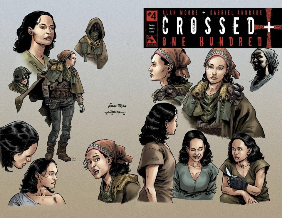 Crossed + One Hundred #4 (Design Sketch Cover)