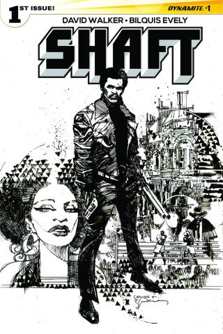 Shaft #1 (10 Copy Sienkiewicz B&W Cover)