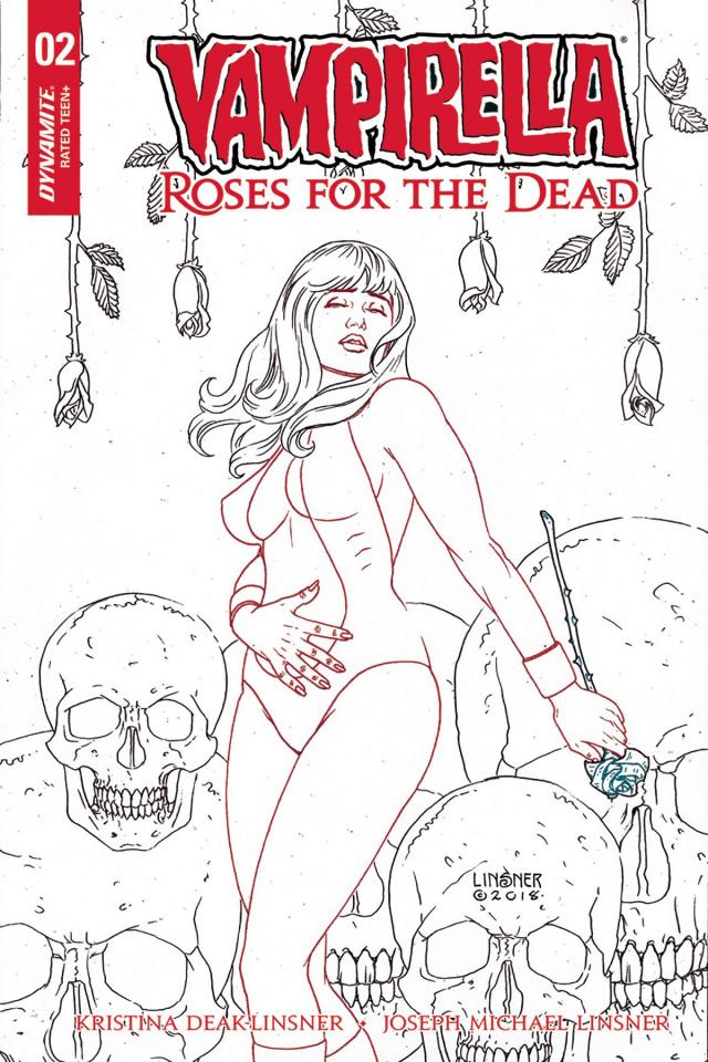 Vampirella: Roses for the Dead #2 (20 Copy Linsner B&W Cover)